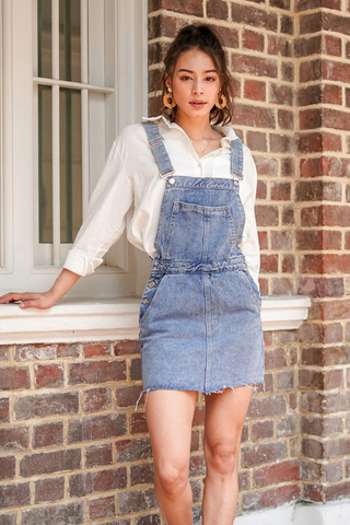 FOREVER YOUNG DENIM SKIRT DUNGAREE