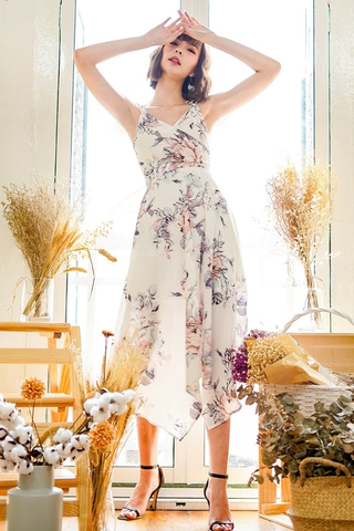 ZARIELLE TIE-STRING WRAP MAXI DRESS #MADEBYLOVET (FLORAL)