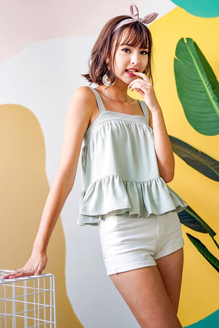 MIRIA BABYDOLL DROPWAIST TOP #MADEBYLOVET (MINT) *RESTOCKED*