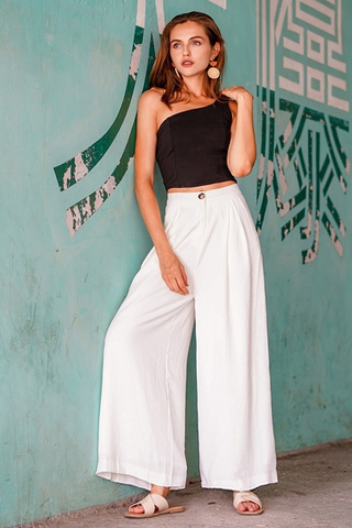 PALAZZO WIDE LEG HIGH WAIST PANTS #MADEBYLOVET (WHITE) *BACKORDER*