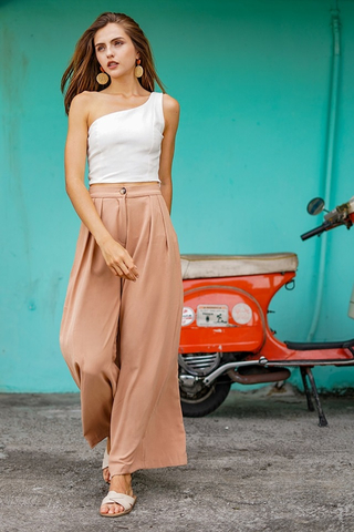 PALAZZO WIDE LEG HIGH WAIST PANTS #MADEBYLOVET (CAMEL BROWN) *RESTOCKED*
