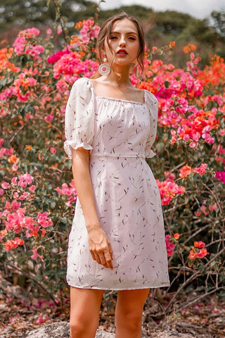 EDITH FLORAL 2-WAY DRESS #MADEBYLOVET (BABY BLUSH)