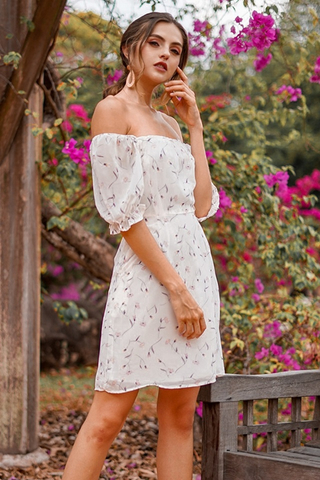 EDITH FLORAL 2-WAY DRESS #MADEBYLOVET (WHITE)