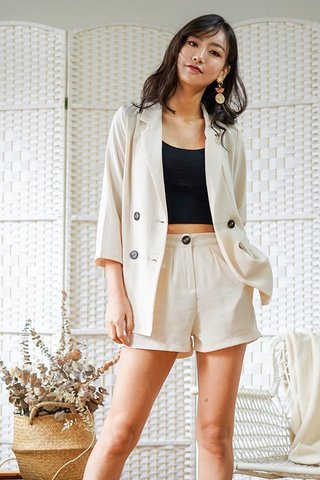 ALVA 2-PIECE BLAZER SHORTS SET #MADEBYLOVET (SAND) *BACKORDER*