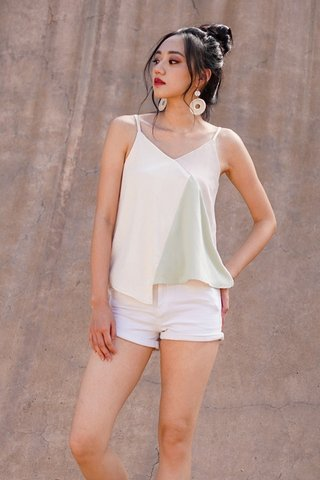 CORALIE COLOURBLOCK TOP #MADEBYLOVET (MINT)
