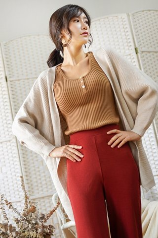 DONNA SLOUCHY KNIT CARDIGAN (OATMEAL)