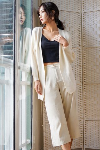 DONNA SLOUCHY KNIT CARDIGAN (OFF-WHITE) *BACKORDER*