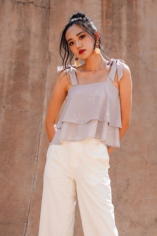 FLEUR TIE-STRING LAYER TOP #MADEBYLOVET (TAUPE) *RESTOCKED*