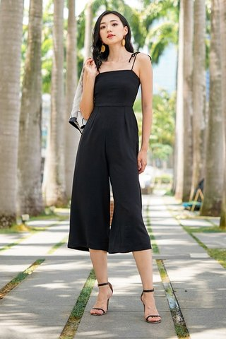 JAYDE TIE-STRING JUMPSUIT #MADEBYLOVET (BLACK) *RESTOCKED*