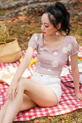 TAISSA DAISY BUTTON TOP #MADEBYLOVET (DUSTY BLUSH)