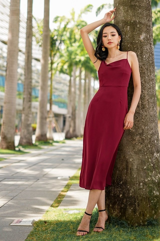 JEZEBELLE COWL MAXI DRESS #MADEBYLOVET (WINE) *RESTOCKED*
