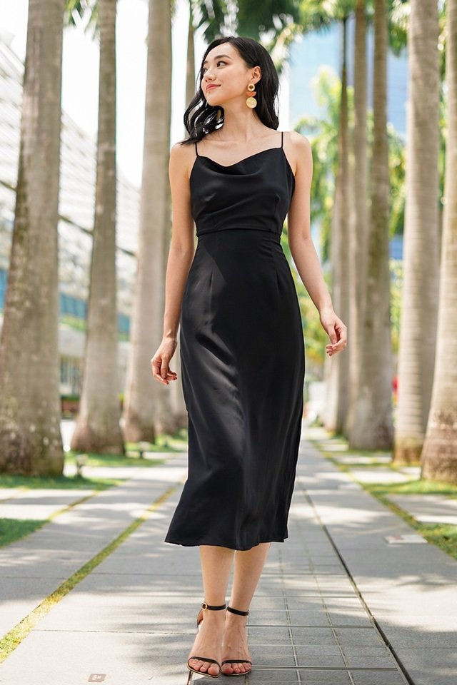 JEZEBELLE COWL MAXI DRESS #MADEBYLOVET (BLACK) *RESTOCKED*