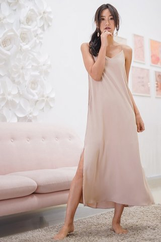 DELANEY SLIT MAXI DRESS #MADEBYLOVET (NUDE)