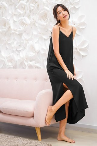 DELANEY SLIT MAXI DRESS #MADEBYLOVET (BLACK) *BACKORDER*