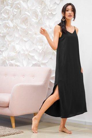 DELANEY SLIT MAXI DRESS #MADEBYLOVET (BLACK) *BACKORDER*