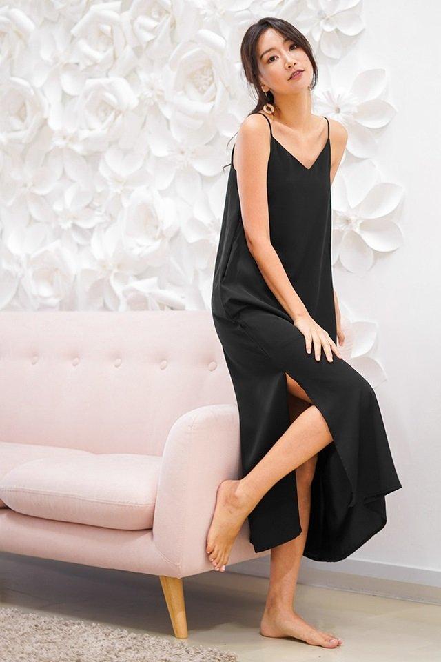 DELANEY SLIT MAXI DRESS #MADEBYLOVET (BLACK) *RESTOCKED*