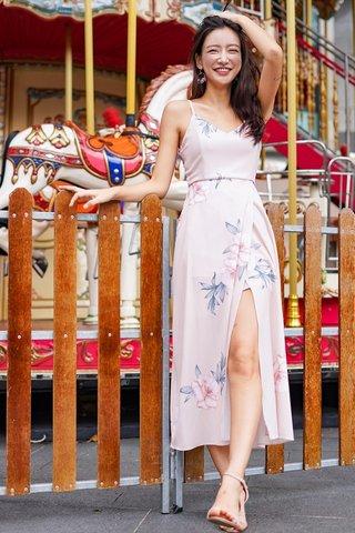 JULIETTE FLORAL MAXI SLIT DRESS #MADEBYLOVET (BLUSH)