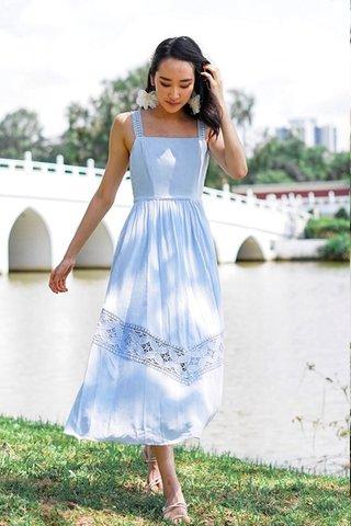 VIENNA EYELET MAXI DRESS #MADEBYLOVET (PERIWINKLE BLUE) *BACKORDER*