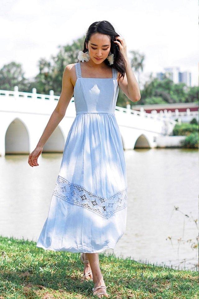 VIENNA EYELET MAXI DRESS #MADEBYLOVET (PERIWINKLE BLUE) *RESTOCKED*