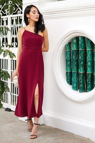 AALIYAH TOGA MIDI DRESS #MADEBYLOVET (WINE)