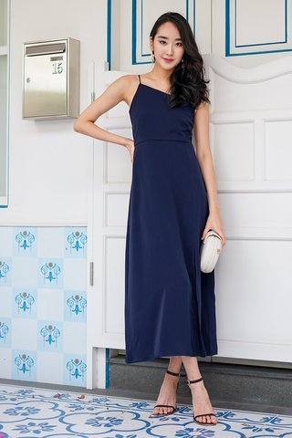AALIYAH TOGA MIDI DRESS #MADEBYLOVET (MIDNIGHT BLUE)