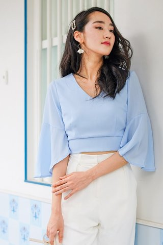 ESME BASIC BELL SLEEVE TOP #MADEBYLOVET (PERIWINKLE BLUE)