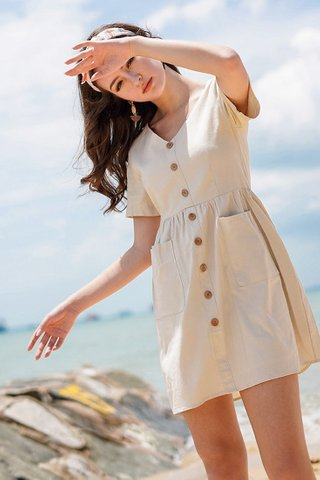 SARAH BABYDOLL BUTTON DRESS #MADEBYLOVET (IVORY) *BACKORDER*