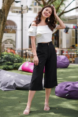 BERLIN CUFFED HIGH WAIST CULOTTES #MADEBYLOVET (BLACK)
