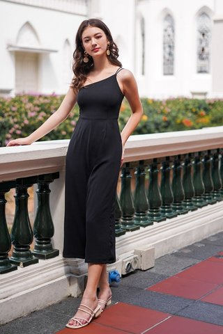 HARLEY DOUBLE STRAP TOGA JUMPSUIT #MADEBYLOVET (BLACK)
