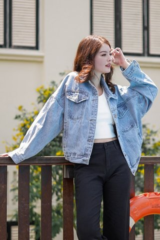 HIGH FLY DENIM BOYFRIEND JACKET #MADEBYLOVET *RESTOCKED*
