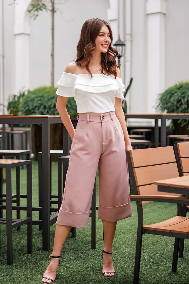 BERLIN CUFFED HIGH WAIST CULOTTES #MADEBYLOVET (DUSTY PINK) *RESTOCKED*