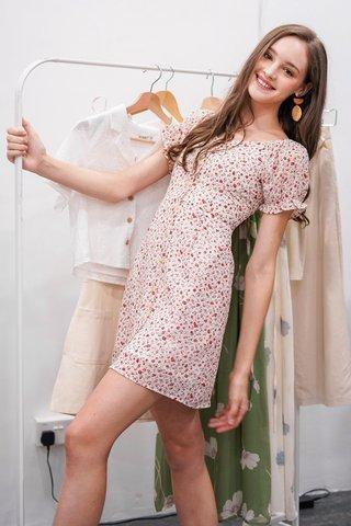 ELORA 2-WAY FLORAL BUTTON DRESS #MADEBYLOVET (CREAM) *BACKORDER*