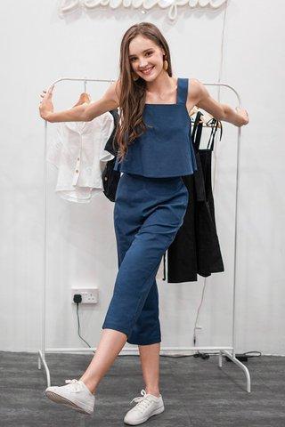 SHELIA LINEN 2 PIECE SET #MADEBYLOVET (MARINE BLUE) *BACKORDER*