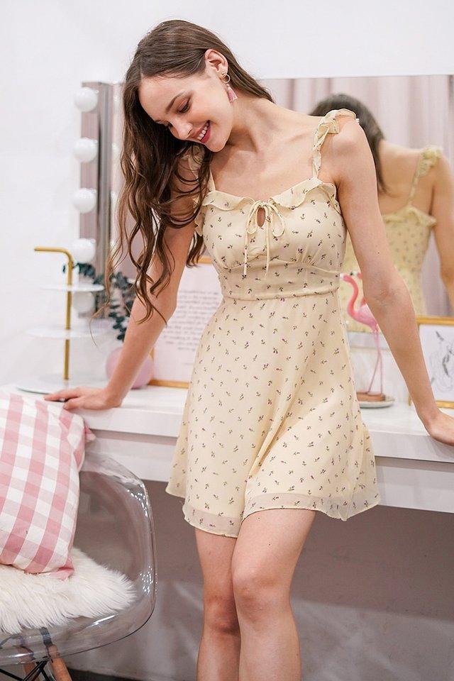 MIA ROSE RIBBON DRESS #MADEBYLOVET (DAFFODIL YELLOW)