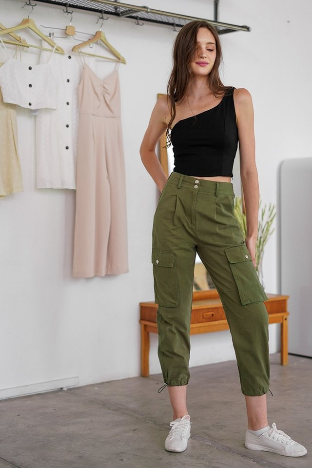 REBEL POCKET CARGO PANTS #MADEBYLOVET (ARMY GREEN) *RESTOCKED*