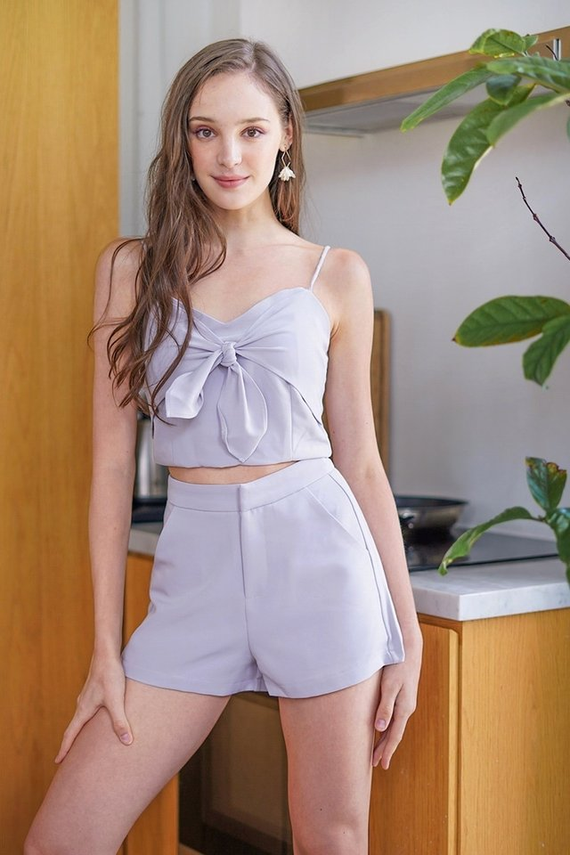 JOVIANNE 2-PIECE RIBBON SET #MADEBYLOVET (LILAC GREY) *BACKORDER*