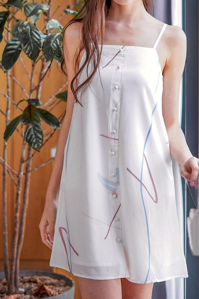 RAELYNN DOODLE BUTTON SPAG DRESS #MADEBYLOVET