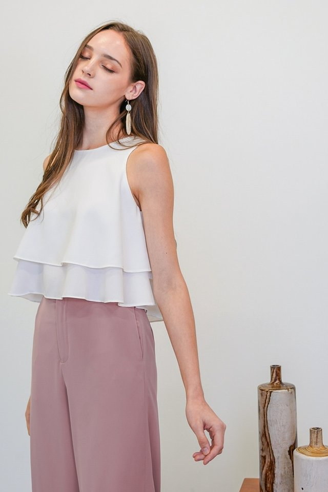 ALLISON LAYERED SWING TOP #MADEBYLOVET (WHITE)
