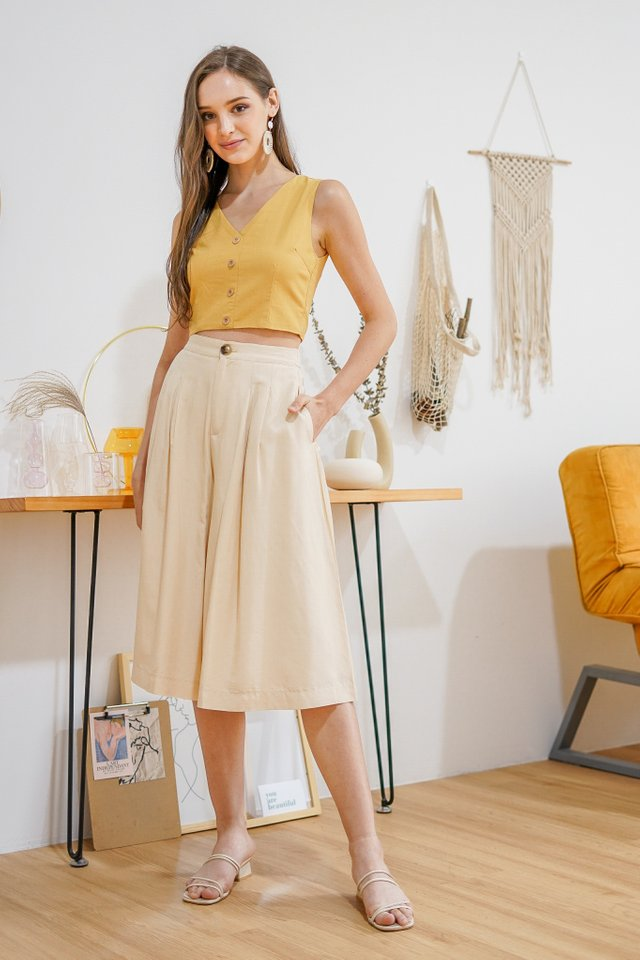ARIZ HIGH WAIST WIDE LEG CULOTTES #MADEBYLOVET (CREAM)