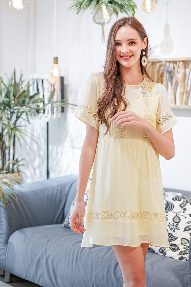 CHIARA 2 PIECE BOHEMIAN DRESS #MADEBYLOVET (DAFFODIL YELLOW)