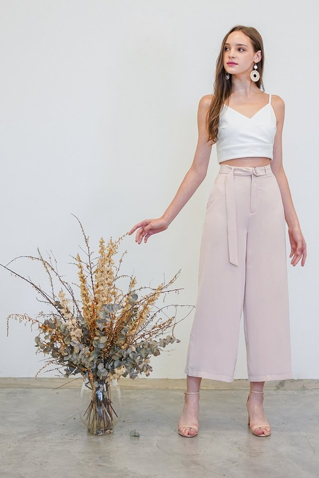 CADENCE HIGH WAIST WIDE LEG PANTS #MADEBYLOVET (NUDE BLUSH)
