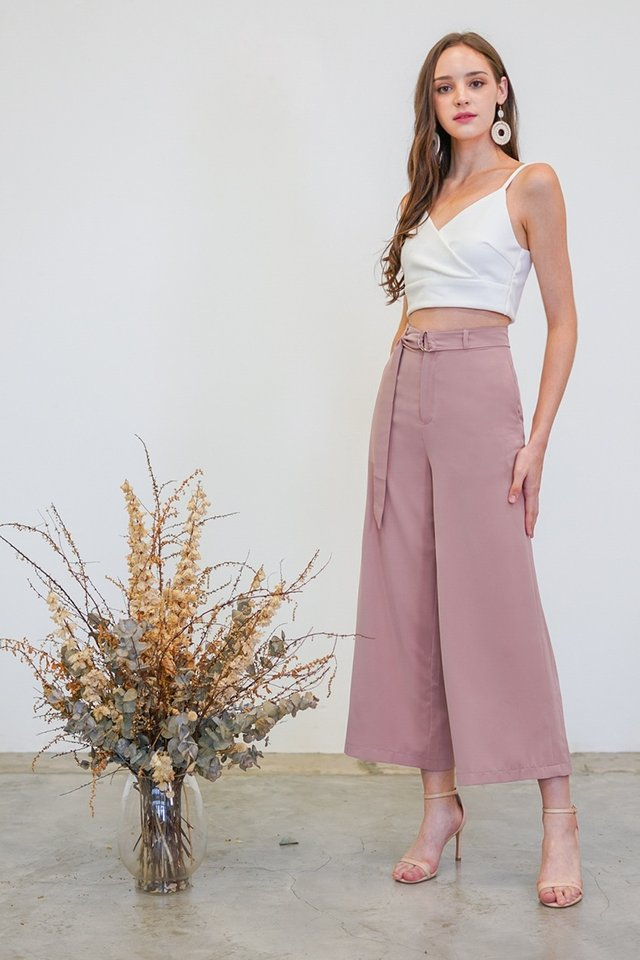 CADENCE HIGH WAIST WIDE LEG PANTS #MADEBYLOVET (ROSE PINK)