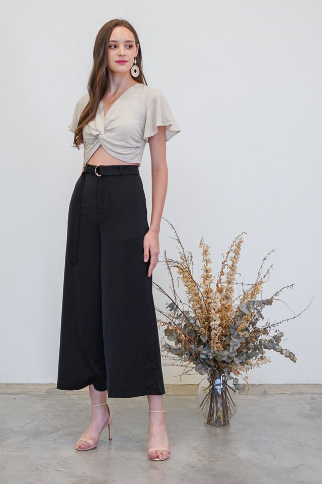 CADENCE HIGH WAIST WIDE LEG PANTS #MADEBYLOVET (BLACK)