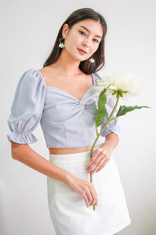 MAELYNN 2-WAY KNOTTED TOP #MADEBYLOVET (LILAC GREY)