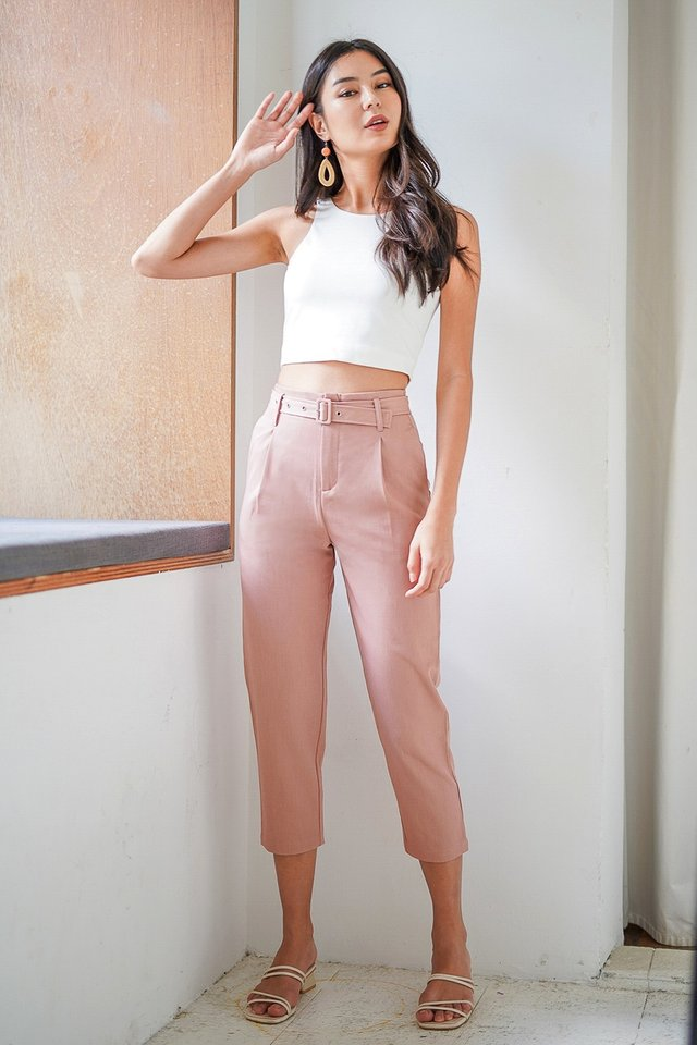 HADDIE TAILORED PANTS #MADEBYLOVET (ROSE TEA PINK) *BACKORDER*