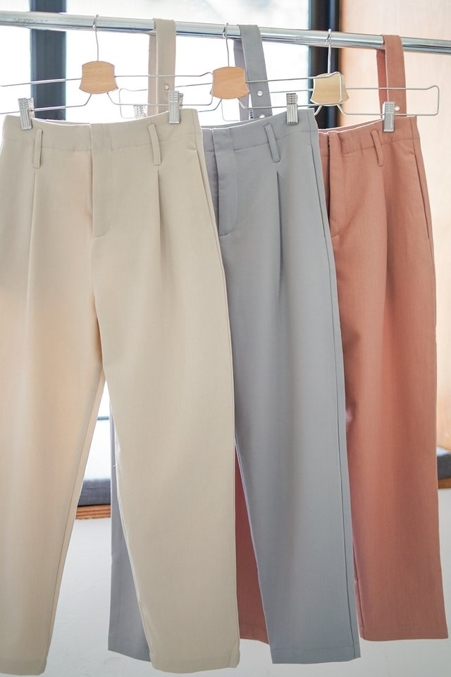 HADDIE TAILORED PANTS #MADEBYLOVET (SAND) *RESTOCKED*