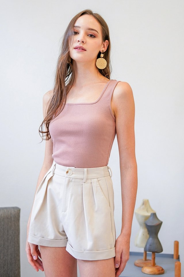 EVIA BASIC RIBBED TOP #MADEBYLOVET (DUSTY ROSE) *RESTOCKED*