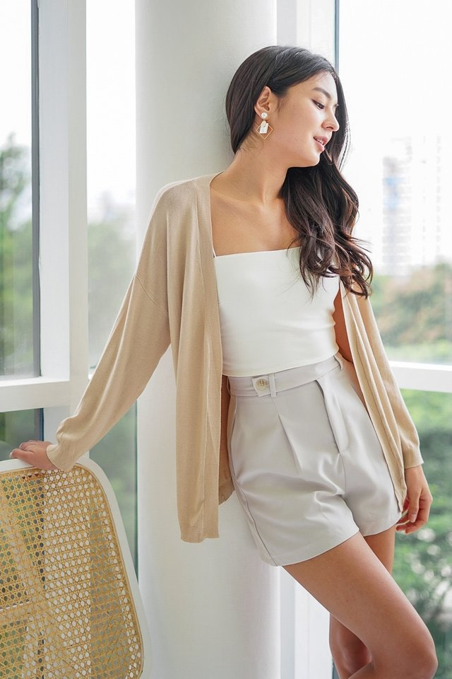 DALEYZA KNITTED CARDIGAN #MADEBYLOVET (SAND) *BACKORDER*