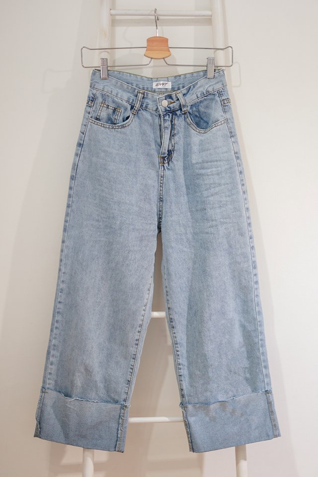 CUFFED UP HIGH WAIST JEANS #MADEBYLOVET