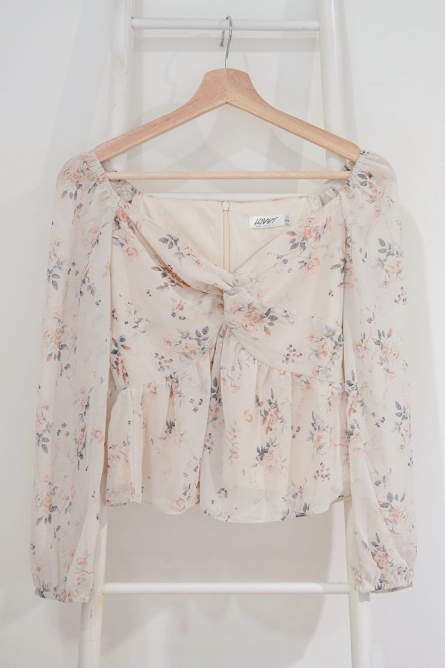 *LIMITED EDITION* KALINA 2-WAY FLORAL TWIST KNOT TOP #MADEBYLOVET